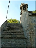 """ST5906 : St Edwold, Stockwood: """"tower"""" by Basher Eyre"""