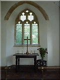 ST5906 : St Edwold, Stockwood: altar by Basher Eyre