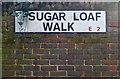 TQ3582 : Street name sign, Bethnal Green by Julian Osley