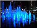 SJ8498 : Piccadilly Gardens Fountains at Christmas (5) by David Dixon
