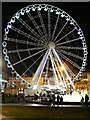 SJ8498 : Manchester's Big Wheel, Piccadilly Gardens by David Dixon
