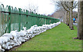 J3674 : Connswater sandbags, Belfast (2) by Albert Bridge