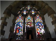 TQ1328 : St Nicholas, Itchingfield: stained glass window (ii) by Basher Eyre