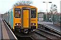 SJ2977 : Arriva Trains Wales Class 150, 150253, Neston railway station by El Pollock