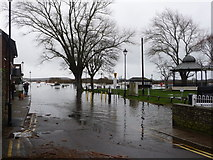 SZ1592 : Christchurch: arriving at the flooded quay by Chris Downer