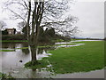 SJ4154 : The River Dee in Flood by Jeff Buck