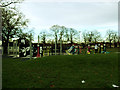 TQ4177 : Outdoor Gym in Charlton Park (2)  by Stephen Craven