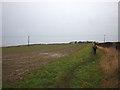 NU1534 : Field path near Brada Quarry by Karl and Ali