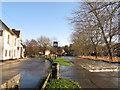 TQ5365 : River Darent in flood, in Eynsford village by Stephen Craven