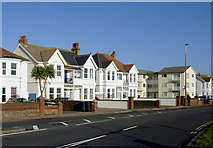 TQ1602 : Seafront housing at East Worthing, West Sussex by Roger  Kidd