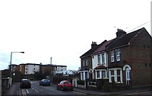 TQ7369 : Vicarage Road, Strood by Chris Whippet