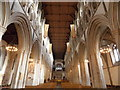 TL1407 : St. Albans: the cathedral nave by Chris Downer