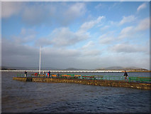 SD4578 : Spring tide at Arnside pier by Karl and Ali