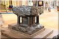 SK9771 : Cathedral font by Richard Croft