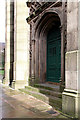 SD9205 : West door, St Mary's Church, Oldham by Alan Murray-Rust