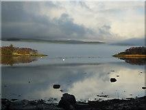 NR8262 : Mist over West Loch Tarbert by sylvia duckworth