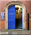 SD9205 : Doorway to the old County Court building, Church Lane by Alan Murray-Rust