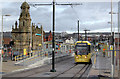 SD9305 : Tram on test at Oldham Mumps by Alan Murray-Rust