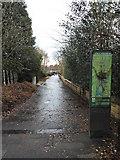 NS5574 : Footpath near Milngavie railway station by Thomas Nugent