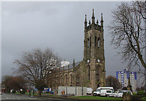 SJ9398 : St Peter's Church, Ashton - the view from the north-west by Alan Murray-Rust