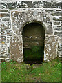 SX2084 : Alcove in chapel wall St Clether's well chapel by Chris Gunns