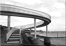 TQ8485 : Spiral Footbridge by Des Blenkinsopp