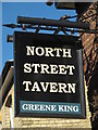 TL8741 : Sign for The North Street Tavern, North Street, CO10 by Mike Quinn