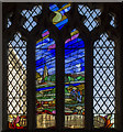 TF1554 : Stained Glass Window, St Michael's, Billinghay by J.Hannan-Briggs