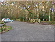 SU8363 : Wildmoor Heath car park by Alan Hunt