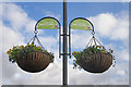 TQ3078 : Hanging baskets, Vauxhall Gardens by Julian Osley