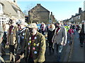 TL2697 : Plough boys on parade - Whittlesea Straw Bear Festival 2014 by Richard Humphrey