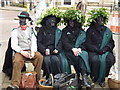 TL2797 : Hedera heads - Whittlesea Straw Bear Festival 2014 by Richard Humphrey