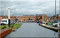 SO8171 : Stourport Canal Basins, Worcestershire by Roger  Kidd