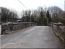 SS8983 : Heol Persondy road bridge over the Ogmore in Aberkenfig by Jaggery