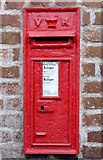 SO8171 : Victorian post box in Stourport, Worcestershire by Roger  Kidd