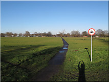 TQ4377 : Path across Woolwich Common by Stephen Craven