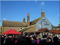 TL2696 : Crowd at The Boat Inn - Whittlesea Straw Bear Festival 2014 by Richard Humphrey