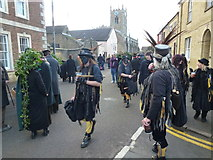 TL2696 : There's nowt as queer as folk - Whittlesea Straw Bear Festival 2014 by Richard Humphrey