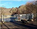 ST2391 : Quarry entrance gate, Darran Road, Risca by Jaggery