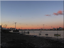TQ3980 : Emirates Airline at dusk by Stephen Craven