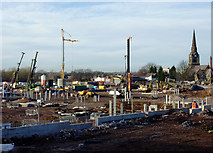 SO9098 : City regeneration south of Chapel Ash, Wolverhampton by Roger  Kidd