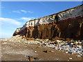 TF6741 : Hunstanton Red Rock in the cliffs by Richard Humphrey