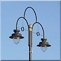 SO9198 : Street lighting by Wolverhampton retail market by Roger  Kidd