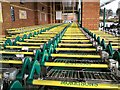 SJ9291 : Yellow trolleys by Gerald England