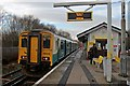 SJ2890 : Arriva Trains Wales Class 150, 150242, Bidston railway station by El Pollock