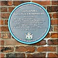 SJ8989 : Stockport Volunteer Armoury: Blue Plaque by Gerald England