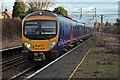 SJ3986 : First TransPennine Class 185, 185104, West Allerton railway station by El Pollock