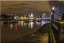 TQ3180 : South Bank looking towards Blackfriars Bridge, London by Christine Matthews