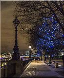 TQ3180 : South Bank towards Blackfriars Bridge, London by Christine Matthews