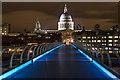 TQ3280 : St Paul's Cathedral from the Millennium Bridge, London, SE1 by Christine Matthews